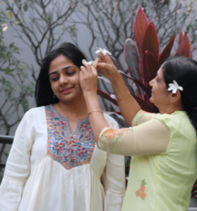 Dr. Madhulika Korde in a family visit
